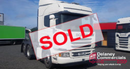 2014 Scania G440 6×2 tag axle tractor unit.