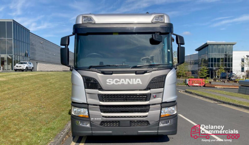 New Scania P320 6×2*4 flatbed with Palfinger Crane for sale full